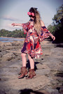Brown-h-by-hudson-boots-tawny-asos-dress-hot-pink-doll-poupée-hair-accessory