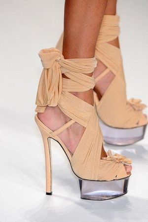 beige Fendia via Clemence Haas shoes