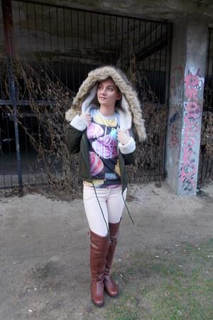 Lovelyshoes boots - Sheinside blouse