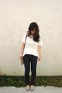 White-forever-21-shirt-gray-american-eagle-bra-brown-coach-bag-blue-citize