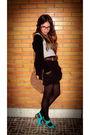 Blue-mango-shoes-black-zara-skirt-brown-dorys-purse