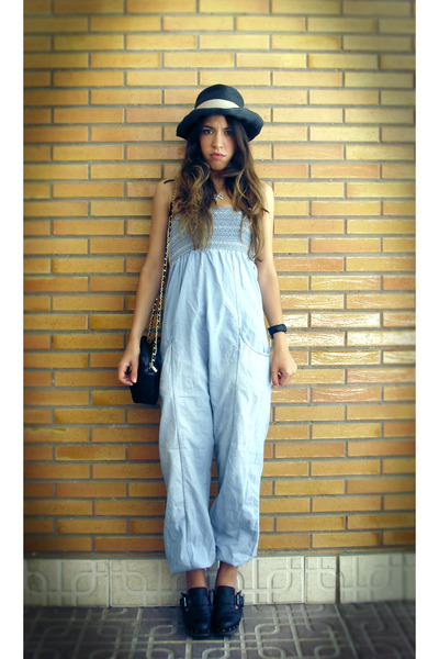 blue BLANCO pants - black Zara shoes