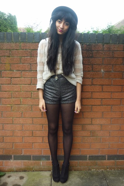 H&M shorts - H&M hat - Topshop jumper
