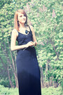 Black-maxi-dress-h-m-dress-black-feather-gina-tricot-earrings
