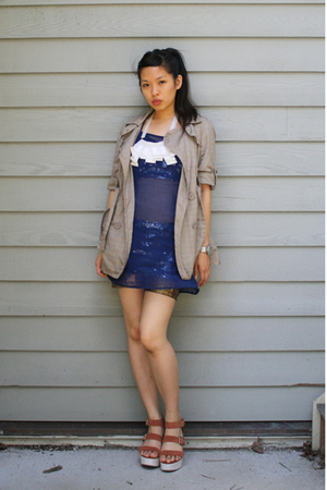Shakuhachi dress - Forever21 jacket - twelve by twelve necklace - American Appar