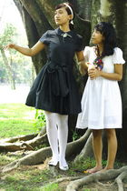 black Mignon dress - white Intans stockings - white Kokoya shoes - white handmad