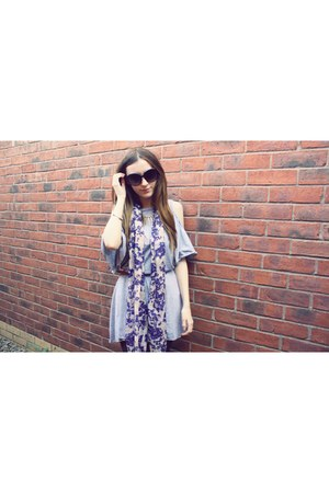 floral H&M scarf - over OASAP dress