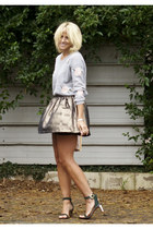 bronze metallic Topshop skirt - neutral Miu Miu bag