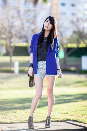 blue Chicwish blazer - black cut out Spicy Avenue shoes