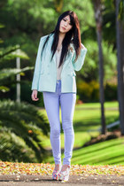 light blue pastel mint Chicwish blazer