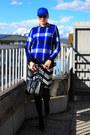 White-no-name-dress-blue-no-name-hat-blue-asos-sweater
