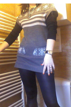 dress - blouse - tights
