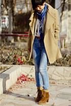 tan Zara blazer - brown Massimo Dutti boots
