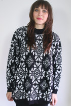 black vintage sweater