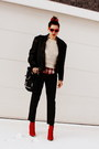 Leather-jacket-vintage-jacket-vintage-sweater-massimo-dutti-pants