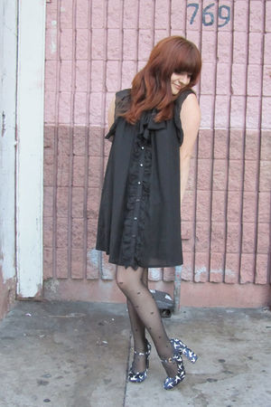 asos tights - Miu Miu shoes - pinkyotto dress