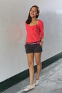 Navy-cotton-on-shorts-salmon-terranova-top