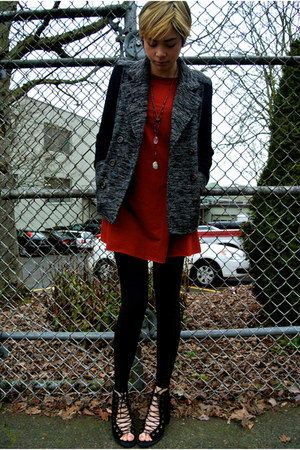 black knit pea coat Nordstrom jacket - black free people shoes