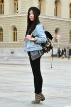 periwinkle jeans denim American Apparel jacket