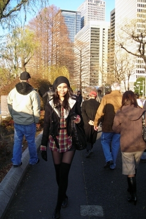 H&M hat - H&M jacket - Ebay shirt - H&M gloves - American Apparel shorts - vinta