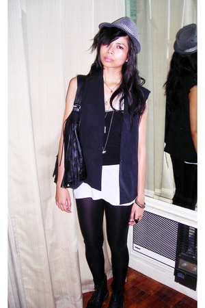 DIY vest - H&M top - Folded & Hung top - TV pants - Stradivarius accessories - d