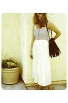 black I heart ronson top - ivory vintage skirt
