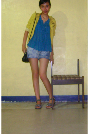 blazer - blouse - shorts - Kate Moss for Topshop - Moschino
