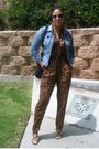Brown-thrifted-pants-blue-h-m-jacket-black-nine-west-shoes-black-thrifted-