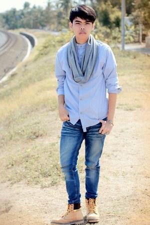 caterpillar boots - skinny jeans Cosmic Jeans X David Bayu jeans
