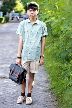 ambrogio shoes - cotton ambrogio shirt - satchel kuya gaya bag - tailored shorts