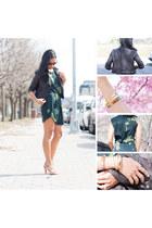 ALC dress - brown leather pinkyotto jacket - Alexander Wang heels