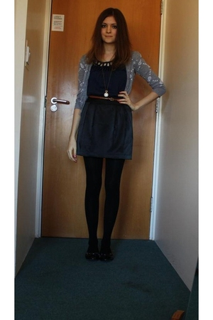 H&M sweater - Topshop top - Urban Outfitters skirt - tights - Office shoes - Top