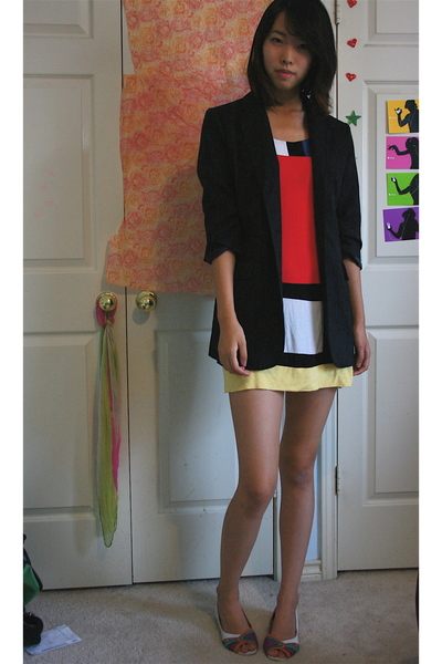 forever 21 blazer - forever 21 dress - Urban Outfitters shoes