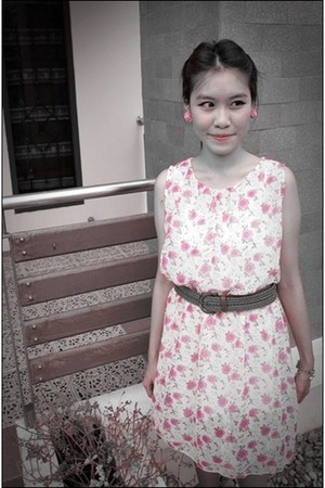 bubble gum thailand no brand dress - brown no brand belt