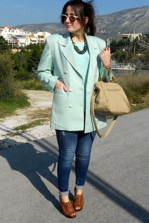 vintage blazer - Zara jeans - H&M sweater - Nine West heels