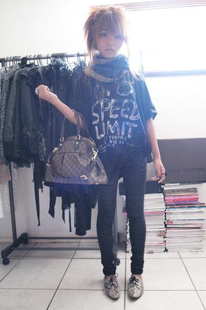 portmans scarf - Luna top - sass & bide pants - Louis Vuitton accessories - I lo