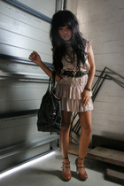 Forever New dress - supre belt - Louis Vuitton purse - Mollini shoes