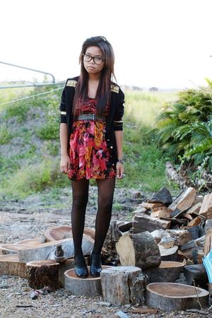 One Teaspoon jacket - Kuku dress - Mums belt - Siren shoes
