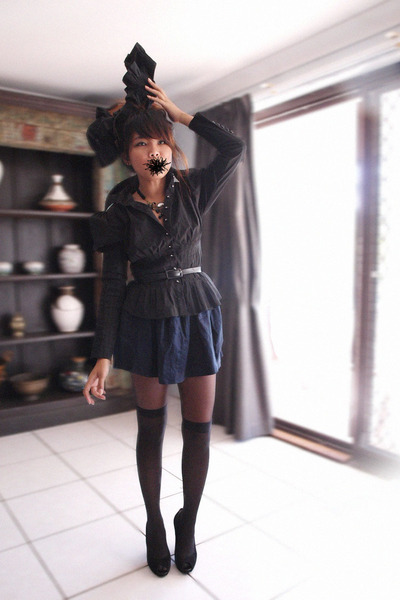 black Marc Jacobs blouse - black Midas shoes - black supre belt
