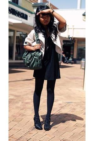 Gripp Jeans jacket - Luna dress - Mimco purse - Wittner shoes