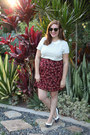 Thrifted-shoes-clubmaster-ray-ban-sunglasses-floral-vintage-skirt