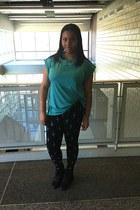cotton Oversized Tee shirt - cotton Dagger Leggings leggings
