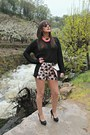 Black-blanco-sweater-blanco-shorts-black-zara-heels
