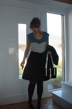 American Apparel shirt - H&amp;M skirt - penny loves kenny shoes - Secondhand purse
