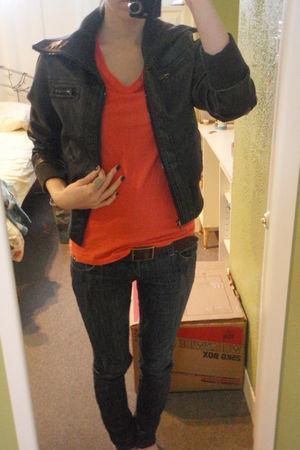 Hurley t-shirt - Z Co jeans - moms belt - Majora jacket