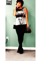 simply vera wang dress - tights - belt - Forever 21 shoes