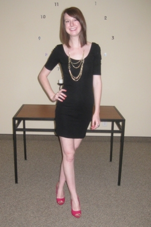 H&M dress - H&M necklace - shoes