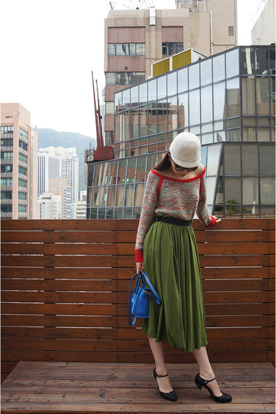 green Innamorato skirt - red ba & sh sweater
