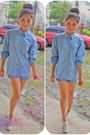 Denim-shorts-american-apparel-shorts-denim-shirt-onlife-top