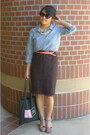 Chambray-old-navy-blouse-black-times-square-bag